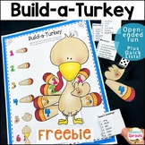 FREE Build a Turkey Game: Thanksgiving Speech and Language