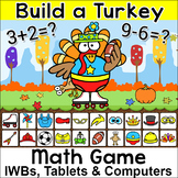Thanksgiving Math Addition and Subtraction Build a Turkey