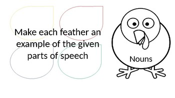 Build a Turkey: Parts of Speech