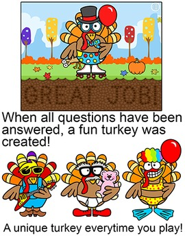 Thanksgiving Activities: Build a Turkey Review Game for Any Subject - SmartBoard