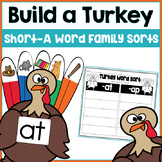 Build a Turkey- Short A Word Family Sorts