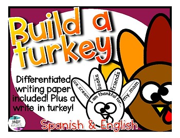 Build a Turkey writing craft in Spanish and English