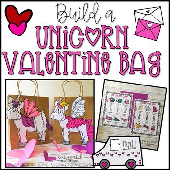 Build a Unicorn Valentine Bag - A Valentines Day Math Activity