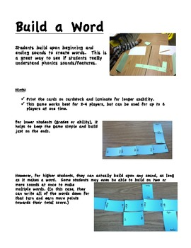 Build a Word Phonics Domino