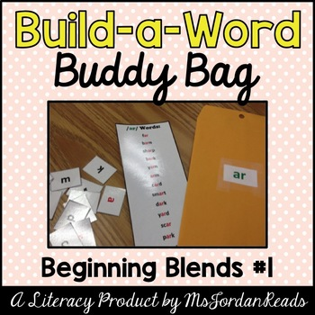 """Build-a-Word"" Buddy Bag: Beginning Blends #1"