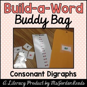 """Build-a-Word"" Buddy Bag: Consonant Digraphs"