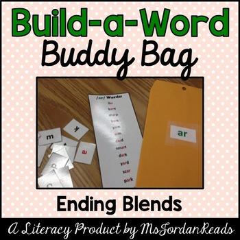 """Build-a-Word"" Buddy Bag: Ending Blends"