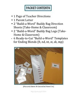 """Build-a-Word"" Buddy Bag: Ending Blends"