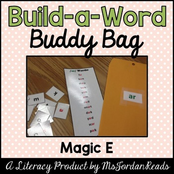 """Build-a-Word"" Buddy Bag: Magic ""E"" Words"