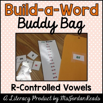 """Build-a-Word"" Buddy Bag: R-Controlled Vowels"