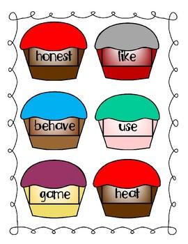 Build a Word, Build a Cupcake