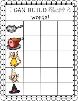 Build a Word, CVC Practice, CCSS