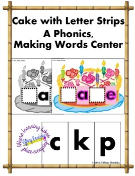 Build a Word Cake is a Long A phonics game with the a-C-e