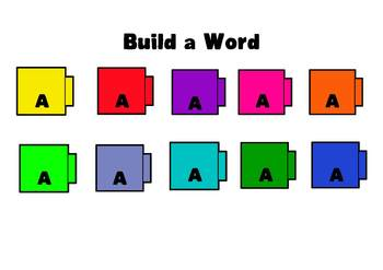 Build a Word Cubes - 26 Letters / 10 Colors