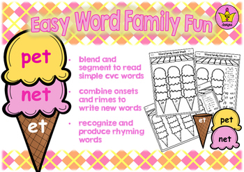 Easy Word Family Fun