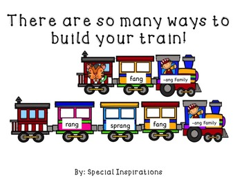 Build a Word Family Train (-ng Family) Literacy Centers