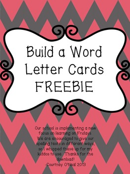 Build a Word Letter Cards FREEBIE!