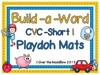 Build-a-Word Playdoh Activity Pack ~ CVC-Short-i Edition