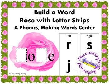 Long O Game Build a Word Rose
