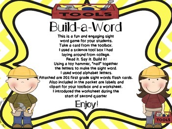 Build-a-Word Sight Word Literacy Center