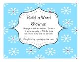 Build a Word Snowmen