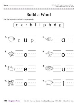 Build a Word (Take It to Your Seat Centers)