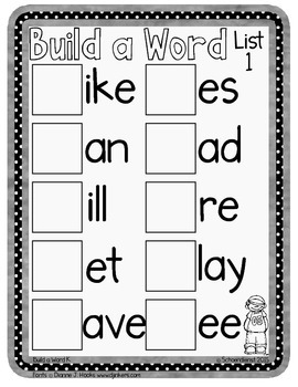 """Build a Word"" Kindergarten Sight Words"