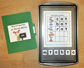 Word Families Activities Pack