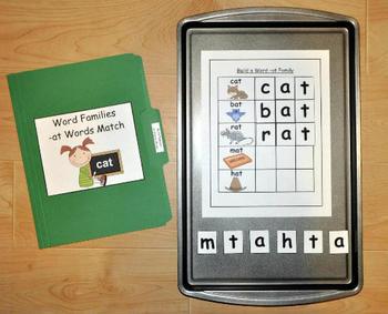 Word Families Activities Pack