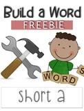 Build a Word - Short A Freebie