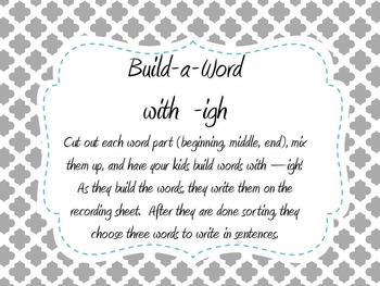 Build-a-Word with -igh