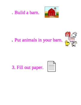 Build a barn in block center symbol chart