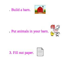 Build a barn in block center symbol chart