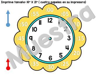 """Build a clock - Reloj para montar (16""""X21"""")"""