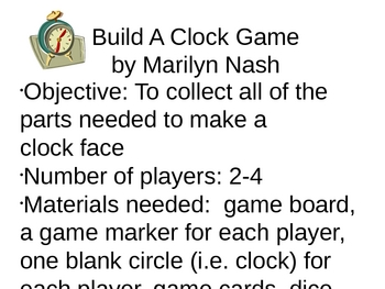 Build a clock time game