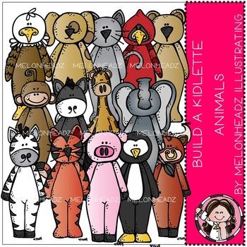 Melonheadz: Build a kidlette animals clip art