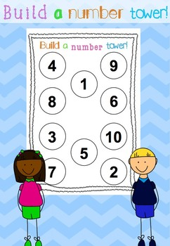 Build a number tower! **FREEBIE**