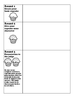 Build a reader/ Build a cupcake choice board