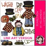 Build a Scarecrow clip art - LINE ART- by Melonheadz