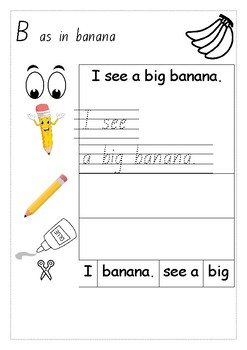 Build a simple sentence - 26 easy sentences for early learners
