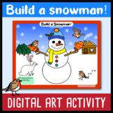 Build a snowman - Google Slides Winter art activity - Digital Learning