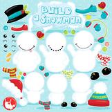 Build a snowman clipart commercial use, vector graphics, d