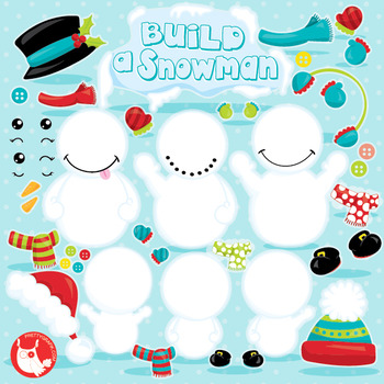 Build a snowman clipart commercial use, vector graphics, d