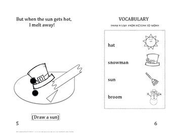 Build a snowman little book