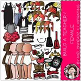 Build a teacher clip art - COMBO PACK- by Melonheadz