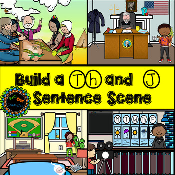 Build a th and j sentence scene for articulation
