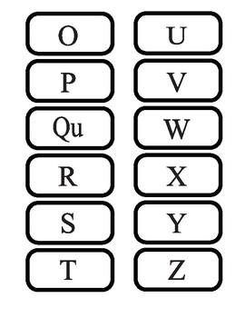 Build-a-word Cards Grade 1 & 2