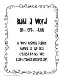 Build a word center (en-, em-, -tion), CCSS aligned