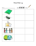 Build a word, word work, literacy center, writing
