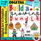 Build a__Growing Bundle: Google Slides Digital Art & Writi